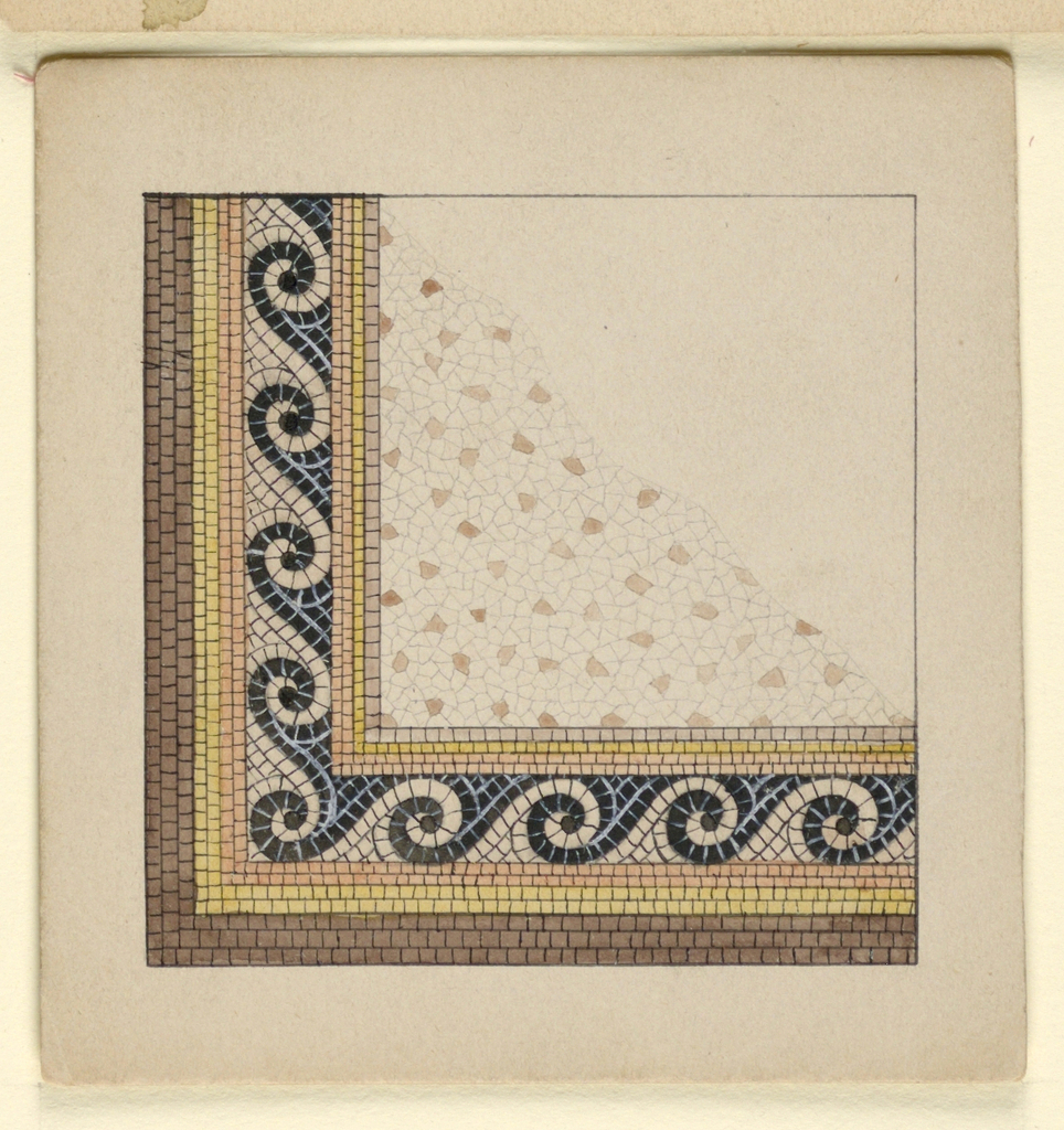 Drawing, Corner Design for Mosaic Floor, n.d.
