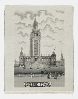 Souvenir of World's Columbian Exposition at Buffalo, New York with an image of the Electric Tower.