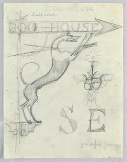 Drawing, Dog House