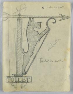 Drawing, Dog: toilet