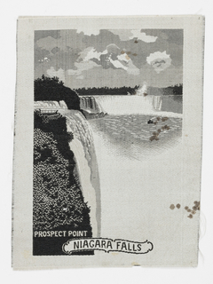 Souvenir of the World's Columbian Exposition with scene of Niagara Falls.