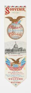 Souvenir of the World's Columbian Exposition, woven in silk