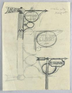 Drawing, Ladies; Restaurant