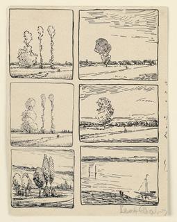 Drawing, Six Landscape Studies