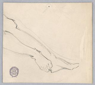 Sketch of a model's legs.
