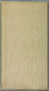 """White mica moire on cream ground.  Printed in selvedge: """"S. A. Maxwell & Co. New York & Chicago 22"""""""