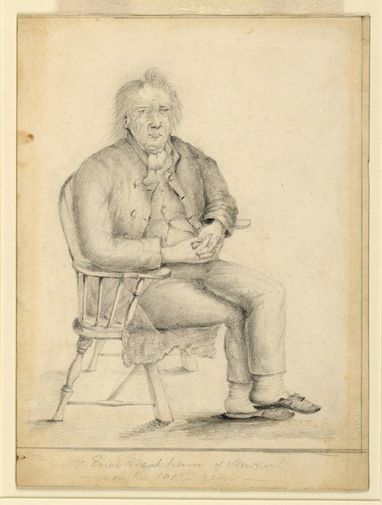 Drawing, Portrait of Enos Peckham, ca. 1830