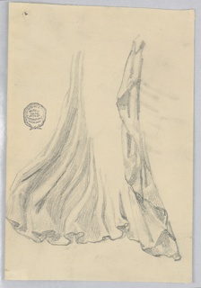 Drapery study for a standing figure.