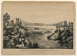 Print, Rail Road Suspension Bridge near Niagara Falls, 1856