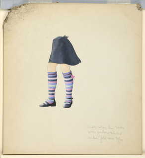 Drawing, Design for Knitted Stockings