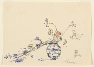Drawing, Vase of Flowers, Talloires
