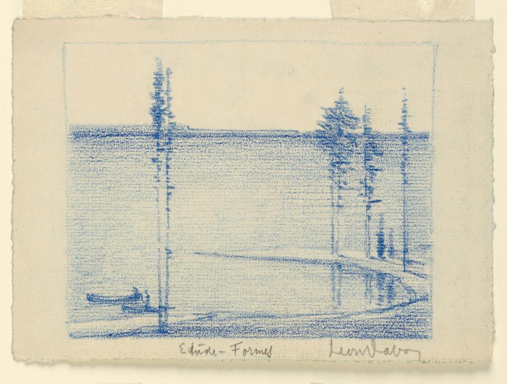 Drawing, Coastal Landscape (Étude-Formes)