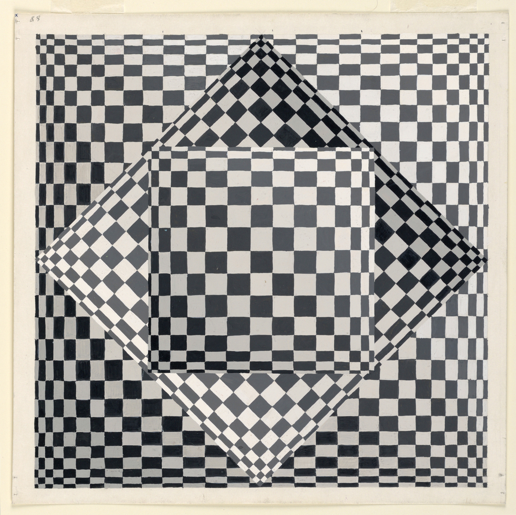 Drawing Exercise In Optical Illusion 1962 Objects Collection Of Cooper Hewitt Smithsonian Design Museum