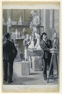 Drawing, A Sculptor's Studio, ca. 1892