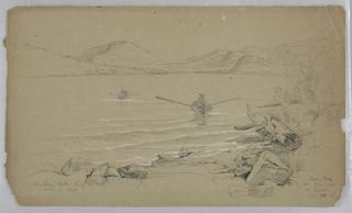 Drawing, Landscape: Eagle Lake