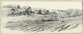 Drawing, The Battlefield at Beaver Dam Creek