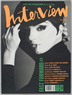 Liza Minelli on cover.