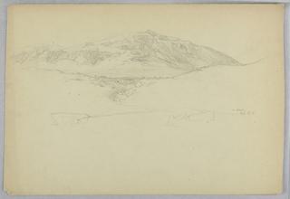 Drawing, Landscape Sketch, Mt. Desert, Maine
