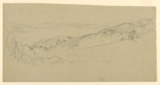 Sketch of a rocky coastline.