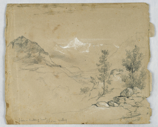 Drawing, Sion, Switzerland, Looking East