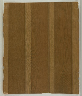 a) Imitation wood panelling in dark browns, on polished paper; b) frieze: imitation wood panelling; c) imitation carved wood panel with metallic gold mount.