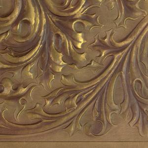 Scrolled and foliate design.
