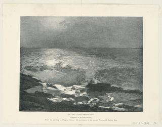 Print, On the Coast - Moonlight, 1894