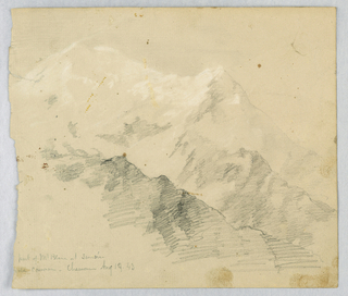 Drawing, Mt. Blanc at Sunrise