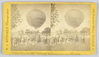 Photograph, The Balloon 'Buffalo', 1875–80