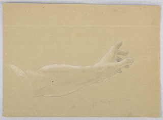 """Drawing, Study for """"Early Christia, 1839–40"""