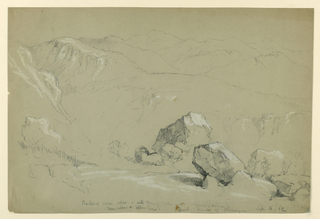 Drawing, Mountain Landscape