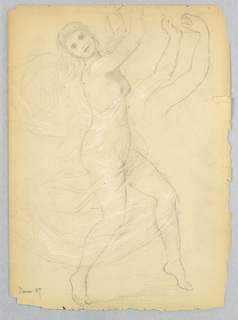 Drawing, Study for the National Ac, June 1868