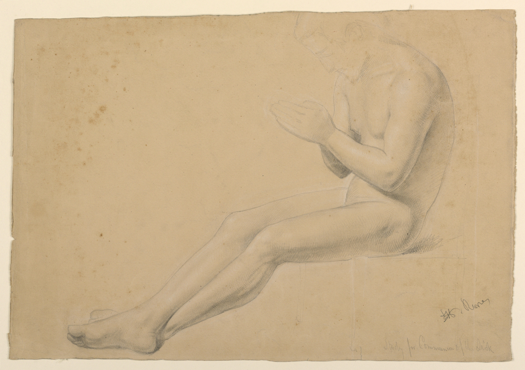 """Drawing, Study for """"Communion of the Sick"""", 1844–45"""
