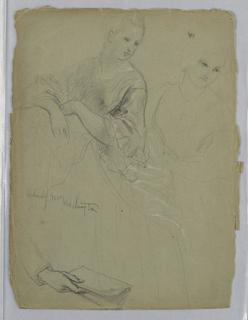 "Drawing, Study for ""Martha Washington Reception"", 1869"