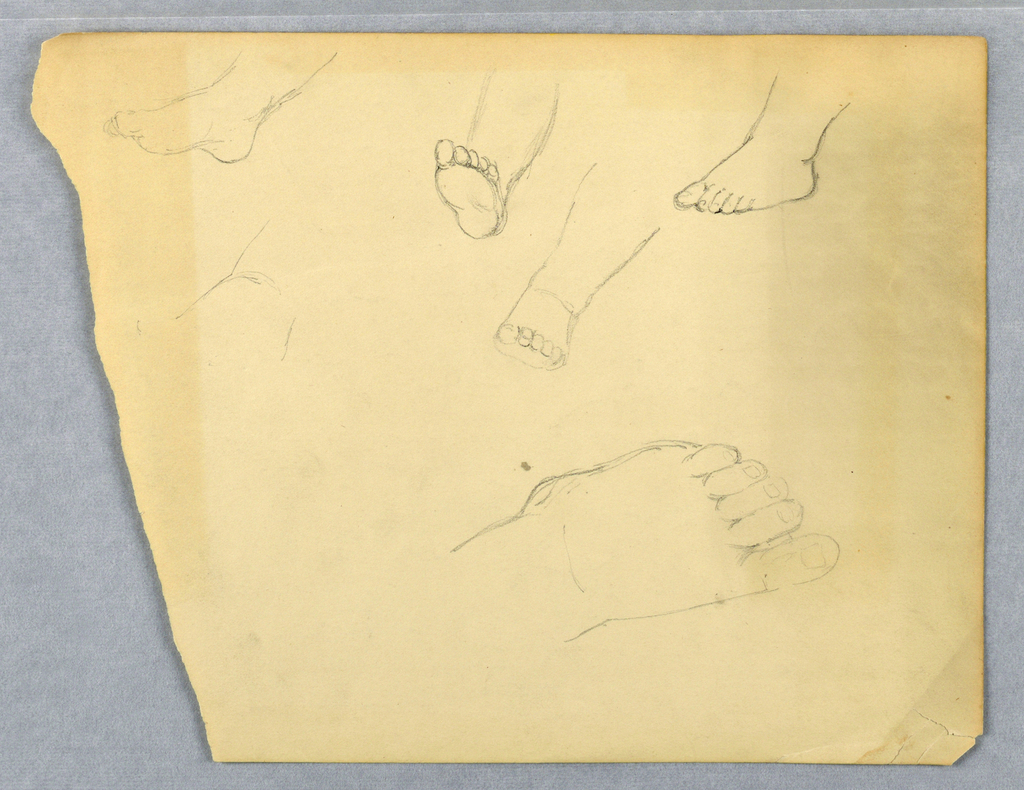 Drawing, Studies of a Child's Left Foot, 1845–55