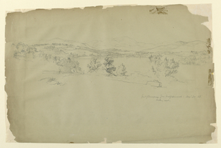 Drawing, Landscape sketch in New Hampshire