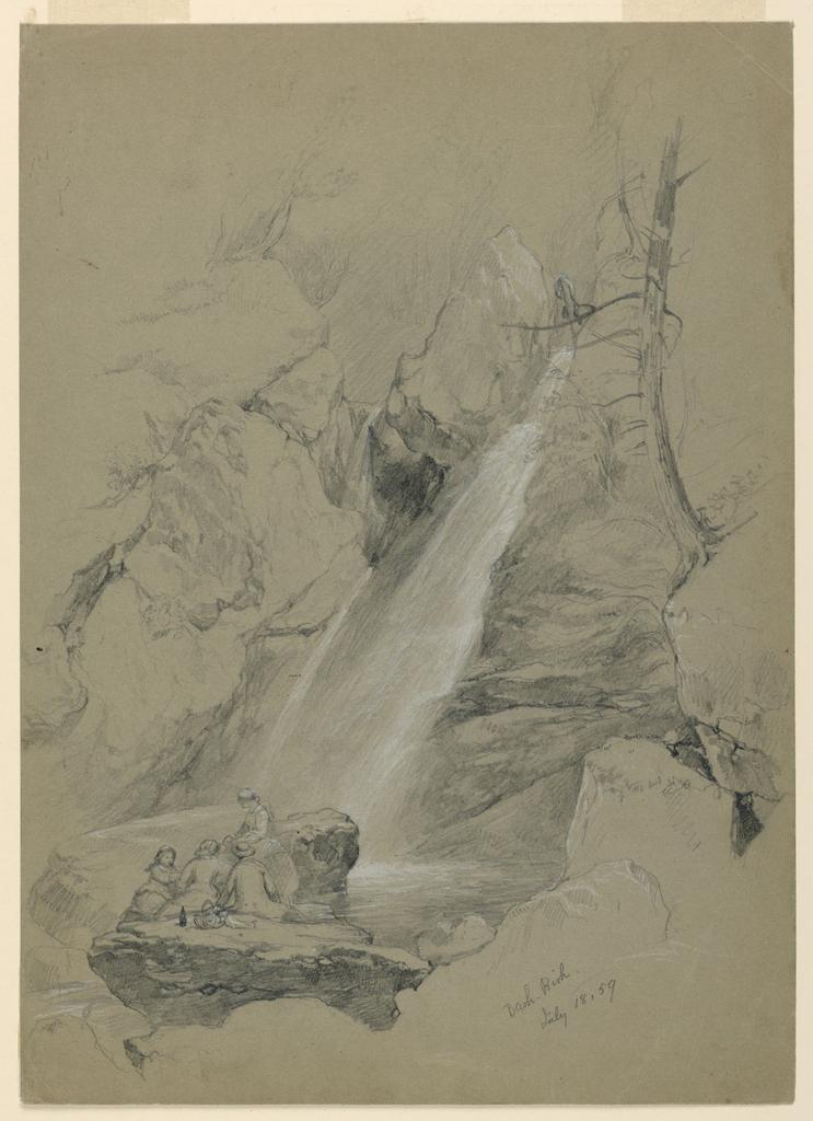 Drawing, Bash-Bish Falls, South Egremont, Massachusetts