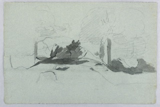 Sketch of rock formations.