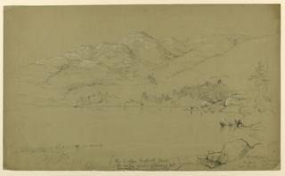 Drawing, Landscape Sketch - Mt. Desert, Maine