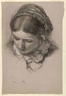 Drawing, The Artist's Wife Sophie, 1853