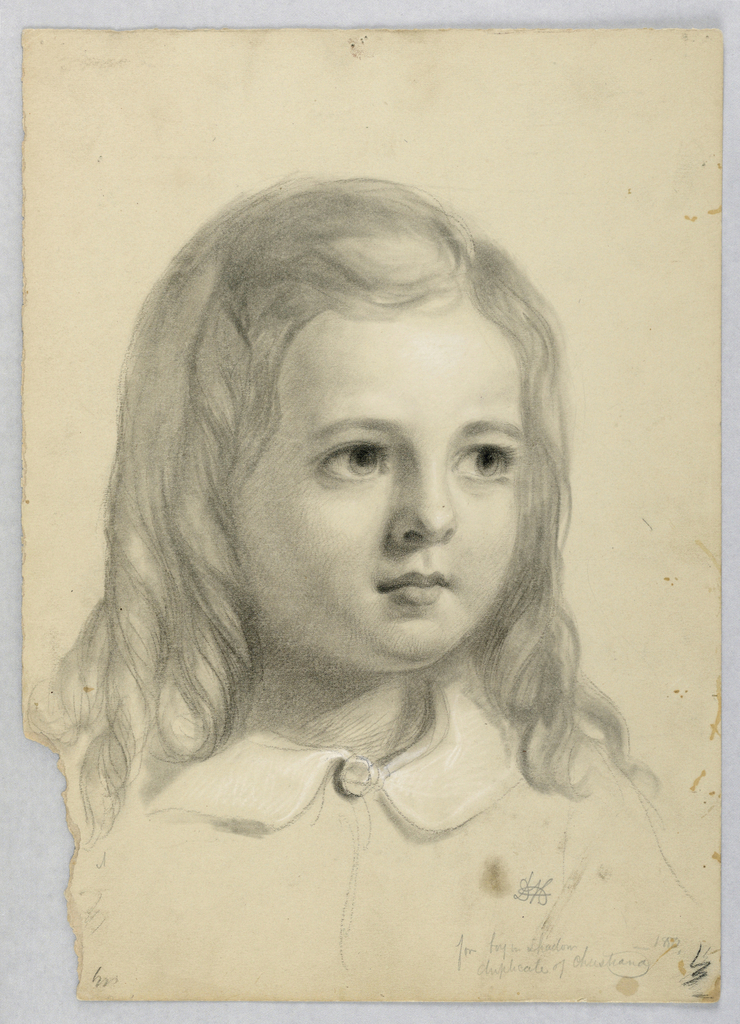 """Drawing, Study for Duplicate of """"Christiana"""", 1850"""