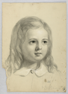 "Drawing, Study for Duplicate of ""Christiana"", 1850"
