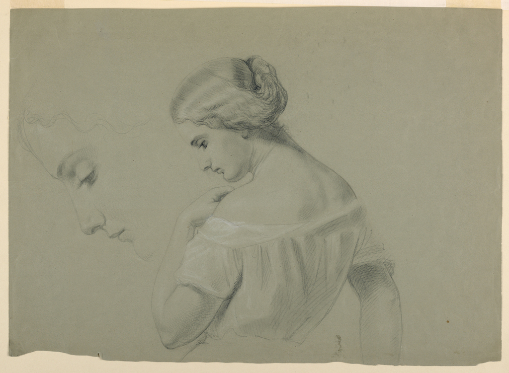Drawing, Profile of Woman's Head a, 1840–70