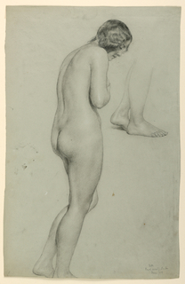 Drawing, Female Nude, 1858