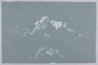 Sketch of cloud formations.
