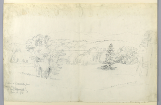 Drawing, The Hudson River and Catskills from Tarrytown