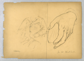 Drawing, Left: William Amory Seate, 1894