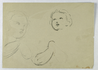 Drawing, Head and Arm Studies of a Child, 1840–45