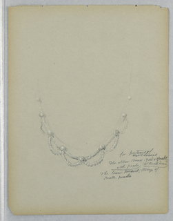 Drawing, Study of the Necklace in the Portrait of Mrs. George Lewis, late 19th century