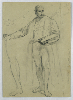 "Drawing, Study for ""Titian Showing, 1866"